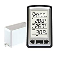 FLOX Wireless Rain Gauge Weather Station with Thermometer - 8.5 * 8.5 * 15.5cm