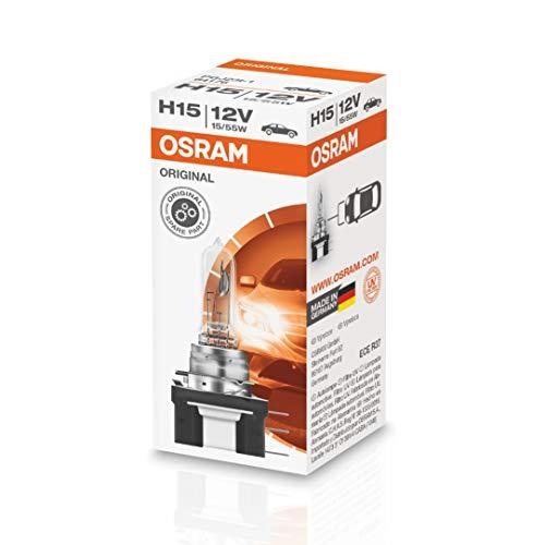 OSRAM Original 12V H15 Lampada alogena per proiettori 64176 - Confezione singola
