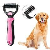 iFCOW Peine desenredante para Mascotas, Cepillo para desenredar para Gatos, Perros, rastrillo, Peine, Herramientas para Eliminar Nudos de Pelo enredado.