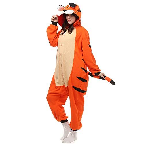 Cosplay Pyjamas Bekleidung Animal Erwachsene Unisex Schlafanzüge Karneval Onesies Jumpsuits Anime Carnival Bengalische Tiger Spielanzug Kostüme Weihnachten Halloween Nachtwäsche (Für Erwachsene Rentier Kostüm Hoodie)