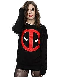 Marvel Damen Deadpool Clean Logo Pullover