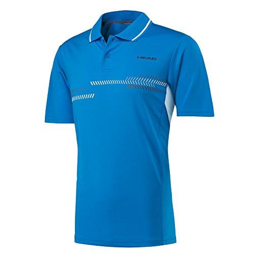 Head Technisches Poloshirt für Herren M blau (Mesh Klassisches Blau Polo)