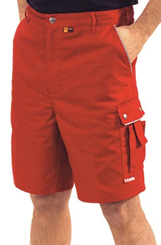 "2177 Planam Arbeitsshort ""Canvas 320\"" rot/rot (L, rot)"