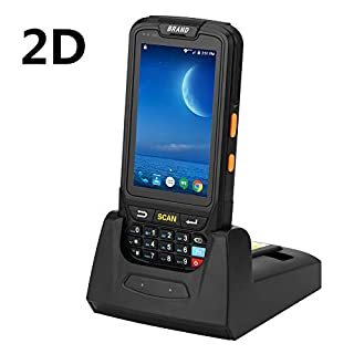 Barcode Scanner 2D Android Terminal Munbyn POS-Terminal OS Android 7.0 Touchscreen Honeywell Barcode-Scanner Wi-Fi Bluetooth GPS und Ladegerät für Warehouse Delivery Management IPDA018-2D