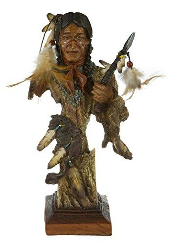 Indianer Krieger Büste Western Wilder Westen Wildwest Deko Figur Indian Warrior Indianer Büste