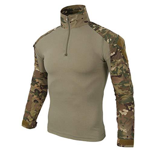 Militärische Multicam Army Combat Shirt Uniform Taktische Shirt mit Ellbogenschützer Camouflage Jagdkleidung Cp S -