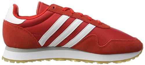 adidas Haven, Scarpe da Ginnastica Basse Uomo Rosso (Red/footwear White/gum)