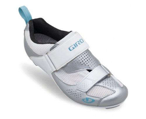 Giro Flynt Tri Damen Triathlon Fahrrad Schuhe weiß/silber/blau 2017