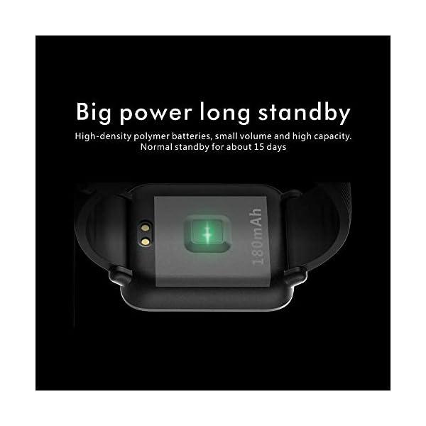 Monitor de frecuencia cardíaca TEEPAO, reloj inteligente a prueba de agua con monitor de presión arterial, contador de… 7