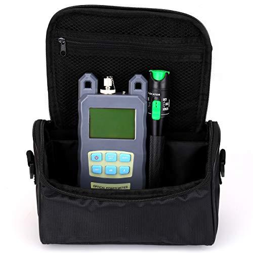 Faser Werkzeug Kleine Tasche mit optische Power Fiber Meter und 20mW 20km Aluminium Visual Fault Locator mit 2,5mm Universal-Stecker Faser Kabel Tester Checker Werkzeug für CATV Telekommunikation Fiber Power Meter