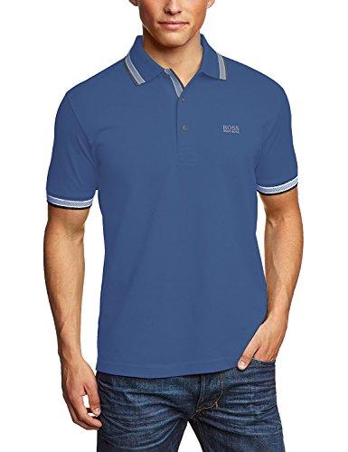 Hugo Boss Herren Poloshirt, Einfarbig Marineblau
