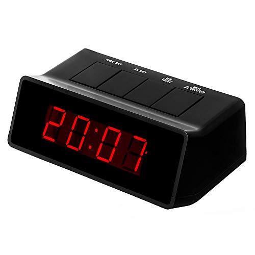 Timegyro 110 db Extra lauter digitaler LED-Wecker für schwere Schläfer, AA-Batteriestrom/nur betrieben