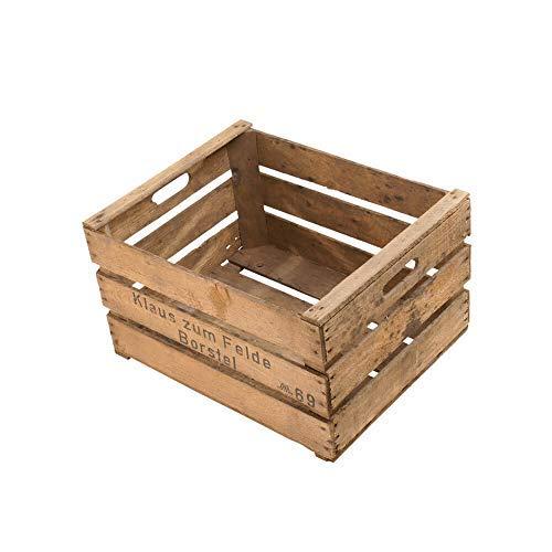 Die Stadtgärtner - Rustikale Obstkiste (Apfelkiste)   Ideal als Pflanzkiste oder für DiY-Projekte   Maße: 49 x 39 x 29 cm   Gebraucht/Vintage