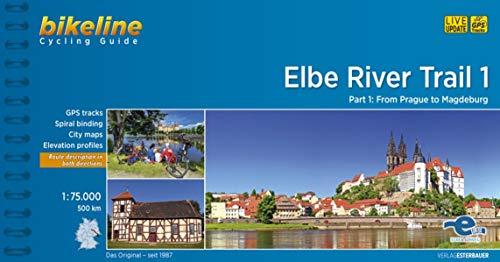Bikeline Elbe River Trail 1: From Praha to Magdeburg (500 km) 1 : 75 000