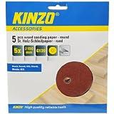 Kinzo 71741 Papier abrasif en bois rond 150 mm