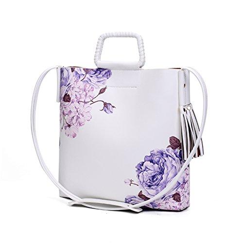 borsa stampa stile cinese/Stampa moda fiore Magnolia diagonale tracolla verticale-E E