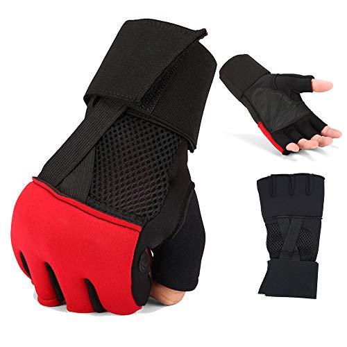 Große Atmungsaktive Slips (HUOFEIKE Sandsack Halbfingerhandschuhe, Sport Outdoor Reiten Handschutz Fitnessgeräte Training Gewichtheben Langhantel Slip Tragbar Atmungsaktiv Durchschnittliche Größe)