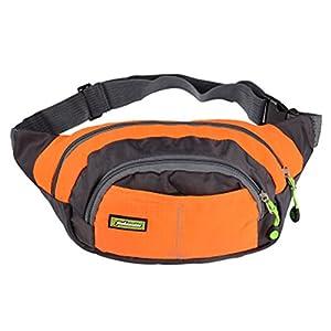 41Inrx10L2L. SS300  - Adjustable Belt Bag Waist Pack Chest Bag Sports Pockets With Zipper Orange