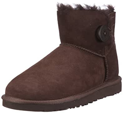 UGG Womens W's Mini Bailey Button Ankle Boots Brown Braun (CHOCO) Size: 3.5 (36 EU)