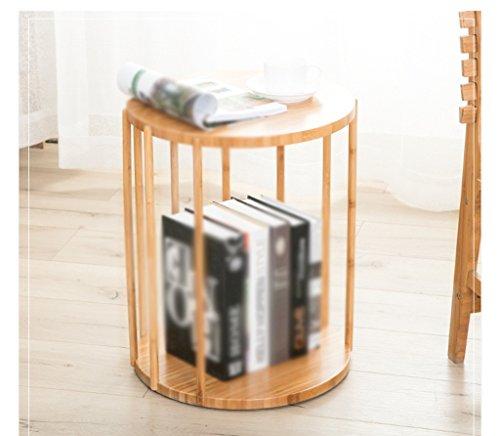 GRJH® Étagère à bord rond Table basse en bois massif en bois de baie Table Canapé moderne simple Coin de table latérale Quelques-uns Imperméable et durable