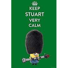 Póster Keep Stuart Very Calm. Los Minions
