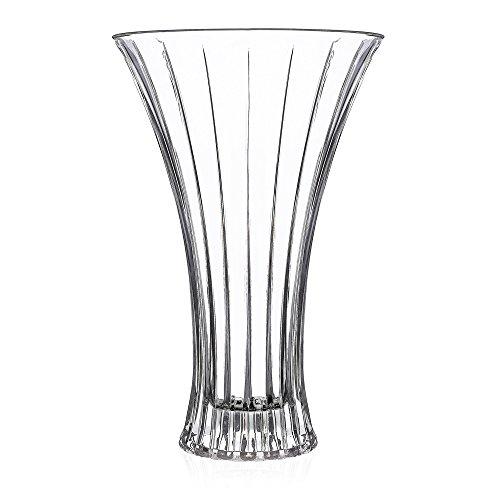 RCR 25749020006 Dekorative Timeless Blumenvase aus Kristallglas, 30 cm, Glass, clear crystal Crystal Glass Vase