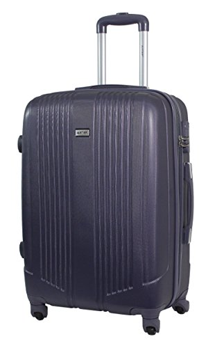 Valise taille moyenne 65cm - Trolley ALISTAIR Airo - ABS ultra Léger - 4 roues (Black Grey)