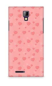 Amez designer printed 3d premium high quality back case cover for Micromax Canvas Express A99 (valentines heart)