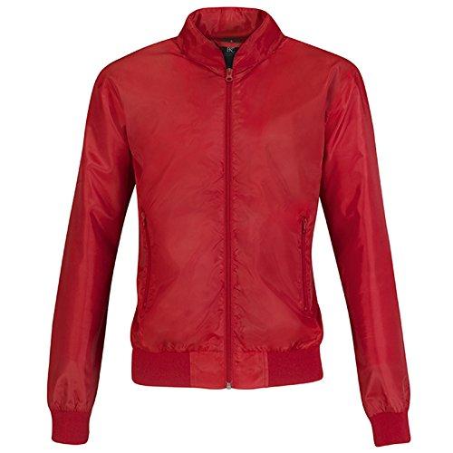 B&C Collection Damen Modern Jacke Red/ Warm Grey Lining