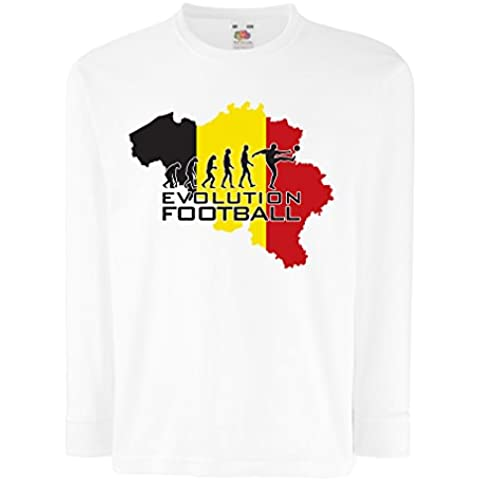 N4492D La camiseta de los niños con mangas largas Evolution Football - Germany