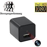 Tangmi 1080P HD Mini Überwachungskamera tragbare kleineKamera USB Aufladeeinheit Bewegung entdecken mit 32GB