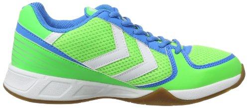 Hummel CELESTIAL COURT X3, Scarpe sportive indoor unisex adulto verde (Grün (Green Gecko 6595))