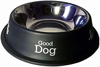 PET CLUB51 Stainless Steel Dog Food Bowl, 460ml (Black)