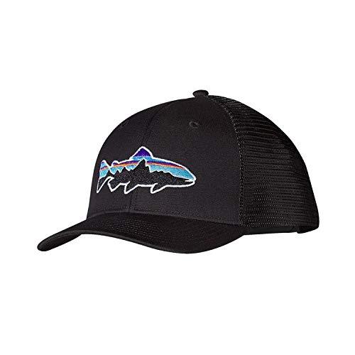 Patagonia Erwachsene Cap Fitz Roy Trout Trucker Hat Black, One Size