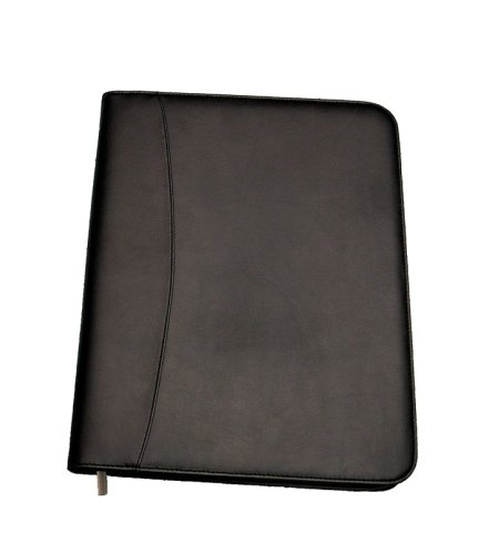 A4 Conference pad with zip  size black