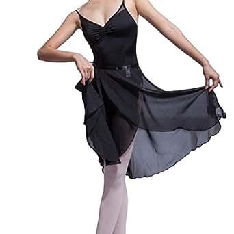 HOEREV Adult Sheer Wrap Skirt Ballet Skirt Ballet Dance Dancewear