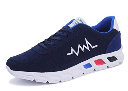 Men's Super Cool Soft Comfortable Athletic Running Shoes Navy