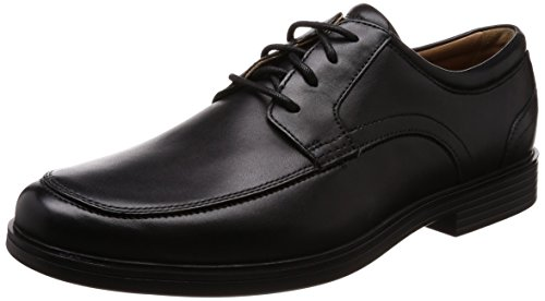 Clarks Un Aldric Park, Scarpe Stringate Derby Uomo, Nero (Black Leather-), 48 EU
