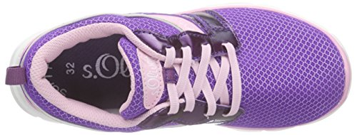 s.Oliver - 33106, Scarpe da ginnastica Bambina Viola (Violett (PURPLE COMB 593))