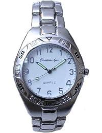 Reloj analógico de caballero cadena números - Christian Gar -Mod.4486-G