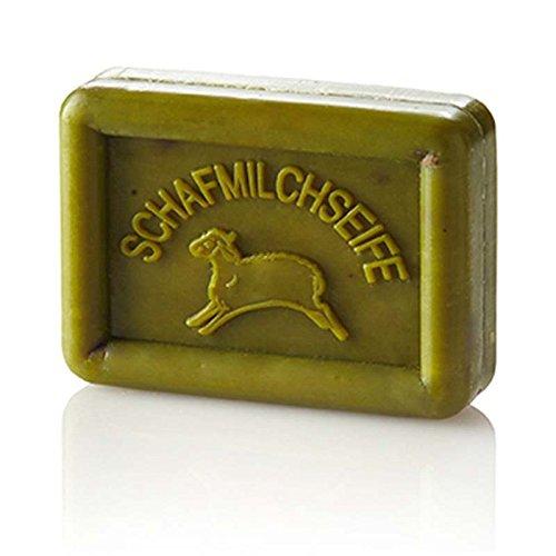 Italien-butter Seife (Schafmilchseife mit pflegender Olive grün, 100g)