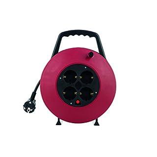 Kabelbox 4-fach 10m 3G1,5 schwarz/rot