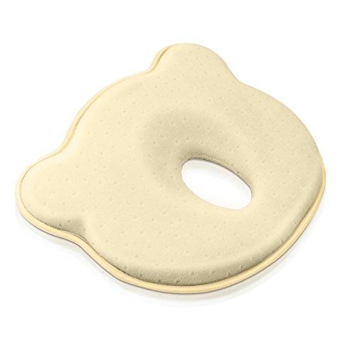 BabyKissen für Memory Foam Baby-Kopfkissen - und Kopfform Positioner Hals-Unterstützung zur Vorbeugung eines Plattkopf , Verformung des Hinterkopfes (0-12 Monate) (gelb)
