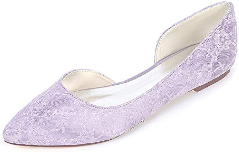 Moojm Donna multiColoreei in seta seta seta punta scarpe piatte con pizzo | acquistare  ba7e05