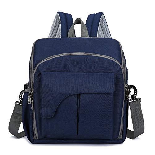 Baby Wickelrucksack Wickeltasche mit Wickelunterlage, yipoint Mama Backpack mit USB Mobiler Kindersitz Multifunktional Große Kapazität Babytasche Reisetasche für Unterwegs, Blau