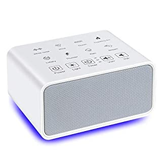 Aozzy White Noise Machine,Baby Sound Machine for Sleeping & Relaxation,USB White Noise Machine with 8 Soothing Natural Sounds and Background Night Light,Adapt Adult and Baby