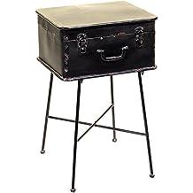 vacchetti Joseph 8034450000Mobiletto modelo maleta, Metal, Negro, 40x 33x 64cm