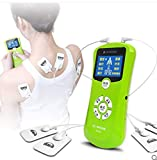 WJW Doble Canal Estimuladores Musculares TENS Multifunción 8 Modos De Masaje Todo El Cuerpo Pulso Electrónico Digital Masajeador Meridiano Tratando Stress Sciatic Pain Alivio Muscular