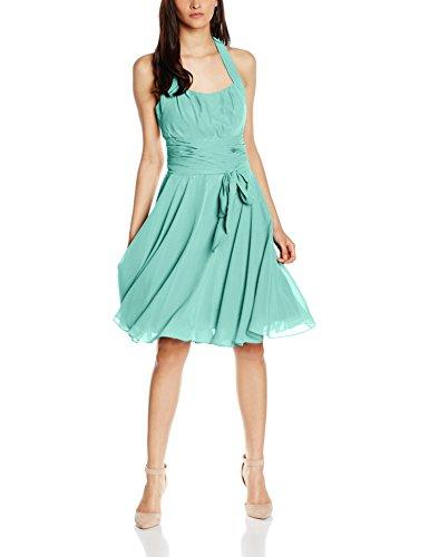 Astrapahl Damen Cocktail Kleid Neckholder, Knielang, Einfarbig, Gr. 46, Grün - Für Frauen Mint Grün-kleid