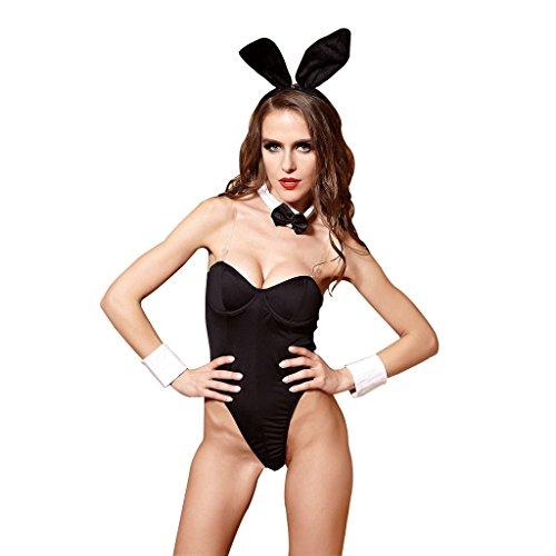 FLH Attraktive Unterwäsche Extrem verlockend Tease Leidenschaftliche Rolle spielen Kleidung cosplay Erogenous ( Farbe : Schwarz , größe : ONE SIZE ) Schwarz